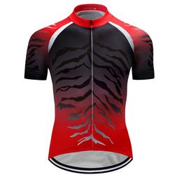 Mens Bike Team Jersey Cycling Shirts Short Sleeve Tops Cloth