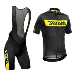 Mens Cycling Jersey Bibs Shorts Kit Racing Short Sleeve Unif