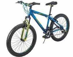 Huffy Mens Mountain Bike 24 inch Blue 21 Speed Fortress, NEW