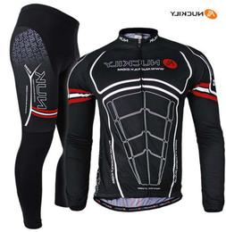 Mens MTB Cycling Bike Long Sleeve Jersey Pants Set Bicycle S