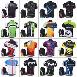 Mens Sports Wear Team Cycling Jersey Sets Bike Bicycle Top S