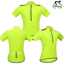 Mens Summer Short Sleeves Cycling Jersey Shirts Tops Bike Bi