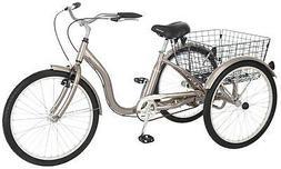 Meridian 26 Single Speed Tricycle - Color: Dark Silver