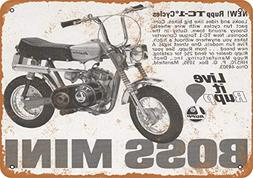 Wall-Color 9 x 12 Metal Sign - 1970 Rupp Boss Minibikes - Vi