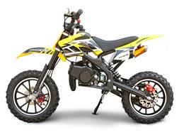 Mini Dirt Bike Gas Power 2-Stroke 49cc Motorcycle for Beginn