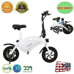 "Mini Electric Bike Two Wheels Bicycle 12"" 36V 250W Adults Po"