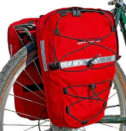 Bushwhacker Moab Red - Bicycle Front / Rear Pannier w/ Refle