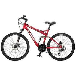Mongoose Stasis Comp 26-Inch Full Suspension Mountain Bicycl