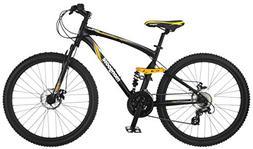 Mongoose Stasis Expert 26-Inch Full Suspension Mountain Bicy
