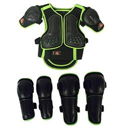 Takuey Kids Motorcycle Armor Suit Dirt Bike Chest Spine Prot