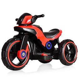 Costzon Kids Motorcycle 6V Bicycle 3 Wheels Battery Powered