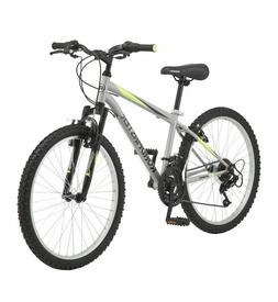 "Mountain Bike Roadmaster 24"" Granite Peak Silver Boy's Bicyc"