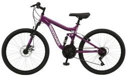 Mongoose Mountain Bike 24-inch wheels 18 Speeds Full Suspens