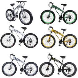 "Mountain Bike 26"" Wheels 4.0 inch Fat Tire Snow Bicycle wi"