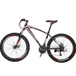 "EUROBIKE Mountain Bike 27.5""  Bicycle 21 Speed Disc Brakes F"