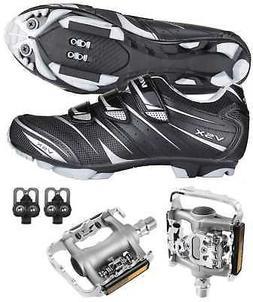 Venzo Mountain Bike Bicycle Cycling Shimano SPD Shoes + Mult