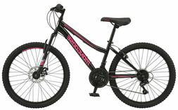 """24"""" Girls' Mountain Bike Bicycle Front Suspension 21 Speed S"""