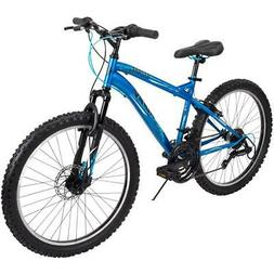 Huffy Mountain Bike Boys 24 Inch Blue 18 Speed Extent NEW