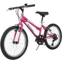 Huffy Mountain Bike Girls 20 Inch Hot Pink  5 Speed Granite