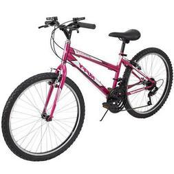 Huffy Mountain Bike Girls 24 Inch Pink 18 Speed Granite NEW