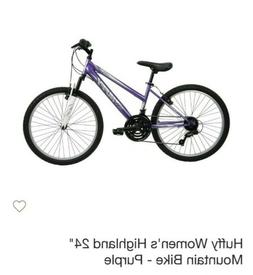 "Mountain Bike Huffy Highland 24"" Mountain Bike Purple Shiman"