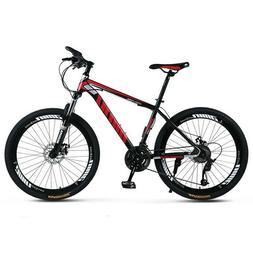 "Mountain Bike Mens 26"" Wheels 21 Speed Carbon Frame Bicycle"