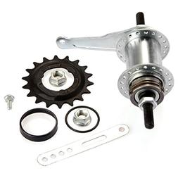 Aluminum Nutted Front Hub Cruiser Beach Cruiser BMX 36h 36 Holes Bicycle Silver
