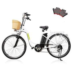 "NAKTO 26"" Adult Electric Bicycle for Women with High-Speed B"