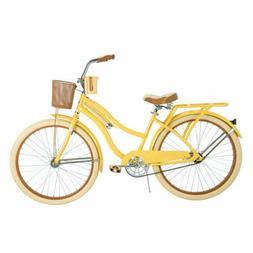 Womens Huffy Nel Lusso 26 inch Cruiser Bike - Yellow FREE SH