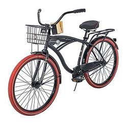 "26"" Huffy Nel Lusso Men's Cruiser Bike, PIANO BLACK hot new"
