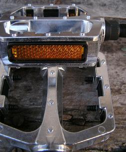 "Schwinn New 1//2/"" Forged Aluminum-alloy Platform PEDALS silver fit 1-pc cranks"