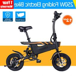 "NEW 16"" Folding Electric Bike 250W 36V Power Assist Ebike Bi"