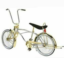 """New 20"""" Lowrider Bike Bicycle Chrome Gold with 72 spokes Ben"""