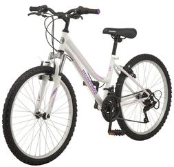 "NEW Roadmaster 24"" inch Granite Peak Mountain Bike Girls Whi"