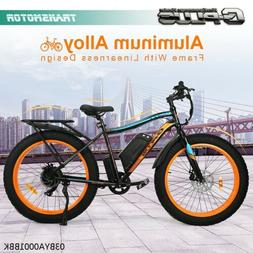 "New 26"" 500W 13AH  Fat Tire Electric Bicycle Mountain Snow B"