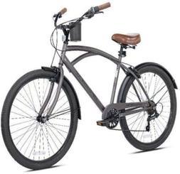 "New 26"" Mens Kent Bayside 7 Speed Bicycle Shimano Steel Fram"