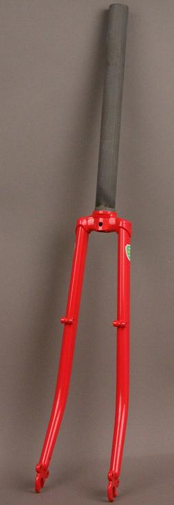 """New Albion Fork Road Bike Curved Blade 1 1/8"""" Threadless Fit"""