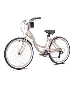 "NEW Kent Bayside 26"" Women's Cruiser Bike Rose Gold Bicycl"