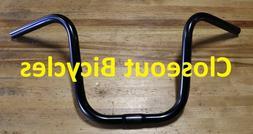 """25.4mm @ mount Cruiser Chopper Bike Lowrider U Bicycle Black Handlebar 9/"""""""