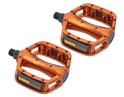 """New Bicycle VP-Style Alloy Pedals 9//16/"""" Orange."""