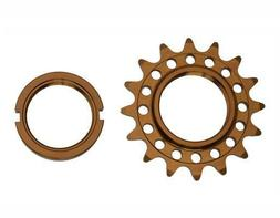 NEW! Bike Bicycle 16T Track Fix Cog 1/8 Brown FIXIE Bike Par