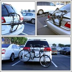 NEW Bike Rack Car SUV Holds 3 Bicycle Rear Trunk Carrier Mou