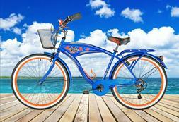 °°NEW!!° blue Margaritaville Multi-Speed Cruiser men's Bi