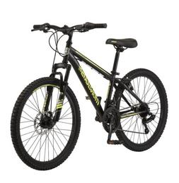"*NEW* Mongoose Boys 24"" Excursion Mountain Bike Black Neon Y"