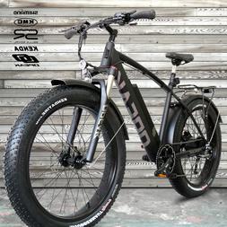 NEW! FATBIKE 28MPH OPEAK EBike Electric Bike BLACK 9 Speed B