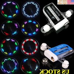 New LED Colorful Bicycle Wheel Tire Spoke Signal Light For B