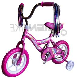 "New 12"" Kids Red or Purple Girls Children Bike Gift w Remova"
