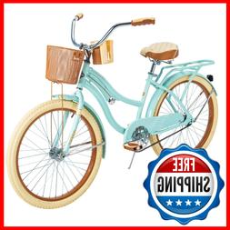 NEW Huffy Nel Lusso 24 inch Girls' Cruiser Bike - Mint Green