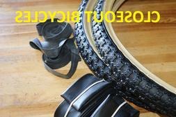 "Pair of two 20""x1.75 BMX Old School Bike BLACK/SNAKE WALL Ti"