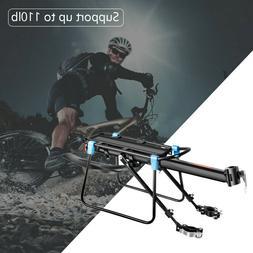 New Rear Bicycle Rack Cargo Rack Bike Quick Release Mount Al